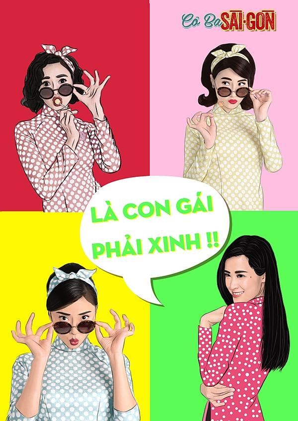 Dàn mỹ nhân Cô Ba Sài Gòn sặc sỡ, nhí nhảnh với bộ ảnh phong cách pop-art-1