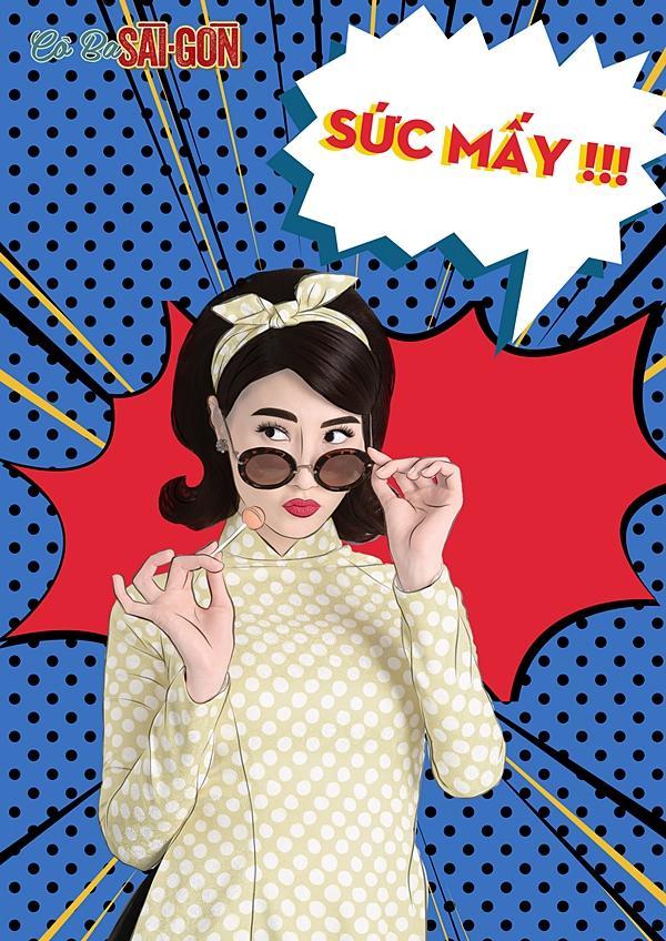 Dàn mỹ nhân Cô Ba Sài Gòn sặc sỡ, nhí nhảnh với bộ ảnh phong cách pop-art-10