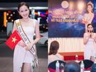 Sau 7 tháng rèn luyện, Hoa khôi Khánh Ngân tự tin tham dự Miss Globe 2017