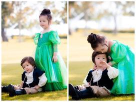 Mê mệt với vẻ đáng yêu của 2 nhóc tỳ nhà Elly Trần