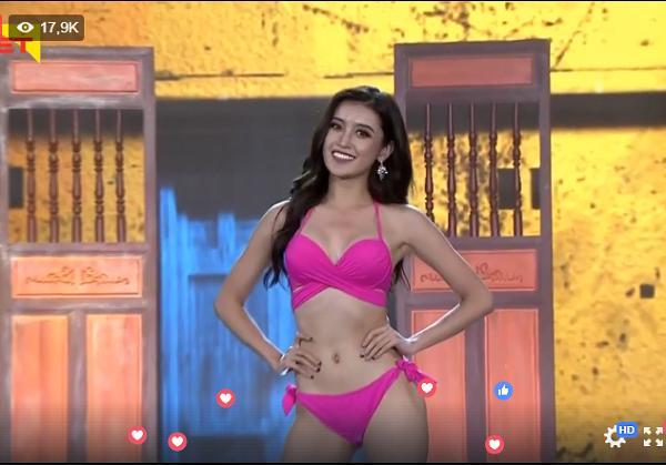 Huyền My tự tin trình diễn Bikini trong top 20-1
