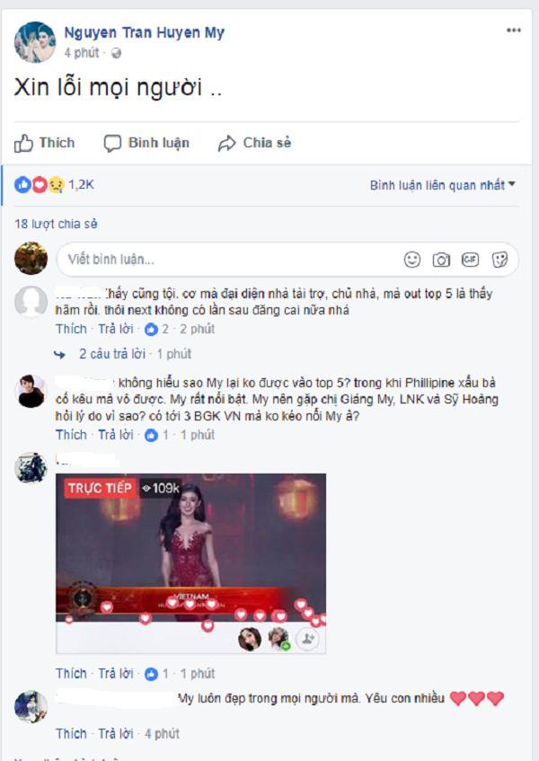 Huyền My xin lỗi khán giả Việt vì trượt top 5 Ứng xử-1