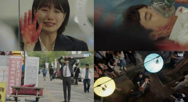 Cư dân mạng chế ảnh Lee Min Ho khóc nức nở khi thấy Suzy hôn Lee Jong Suk-1
