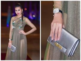 Đeo đồng hồ tiền tỷ, mặc váy xuyên thấu khiến Thanh Hằng gợi cảm hết mức