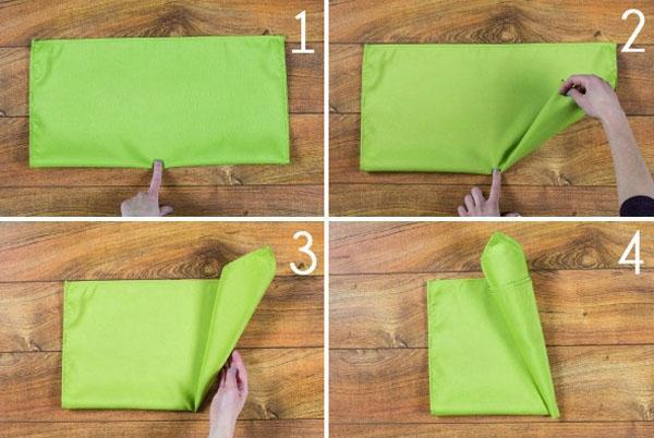 3 cách gấp khăn ăn trang trí bàn ăn đẹp tinh tế-1