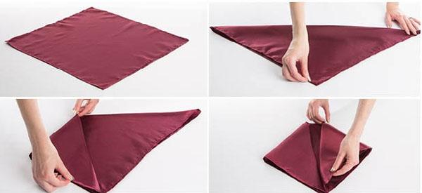 3 cách gấp khăn ăn trang trí bàn ăn đẹp tinh tế-7