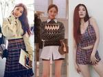 Dàn mỹ nhân Hàn lăng-xê nhiệt tình mốt vải tweed trong street style tuần này