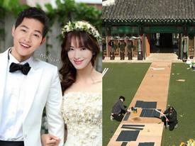 Đám cưới Song Joong Ki - Song Hye Kyo: Những hình ảnh đầu tiên bên trong nơi tổ chức hôn lễ
