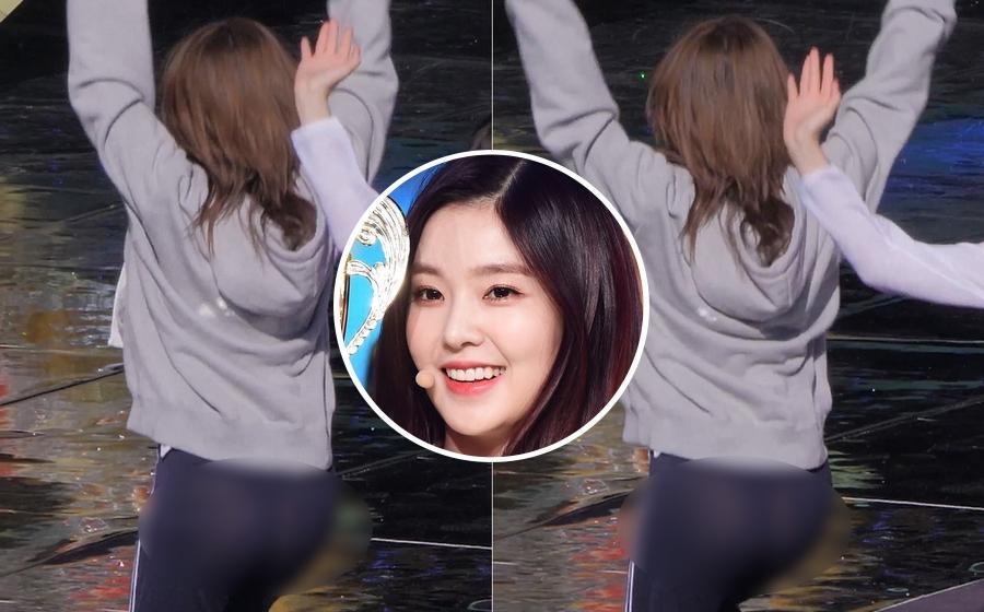 Mặc quần mỏng xuyên thấu, Irene (Red Velvet) lộ phần nhạy cảm trong lúc diễn tập-1