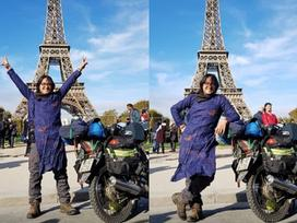 Tranh cãi không dứt về chàng trai đi xe máy từ Việt Nam đến Pháp