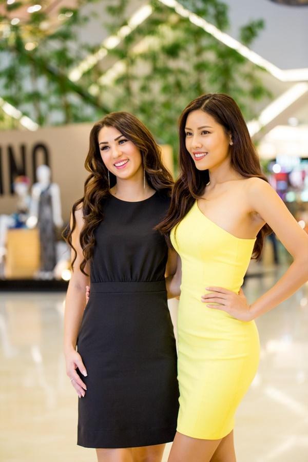 Nguyễn Thị Loan hội ngộ Hoa hậu Hoàn vũ Na Uy trước thềm chung kết Hoa hậu Hoàn vũ-2