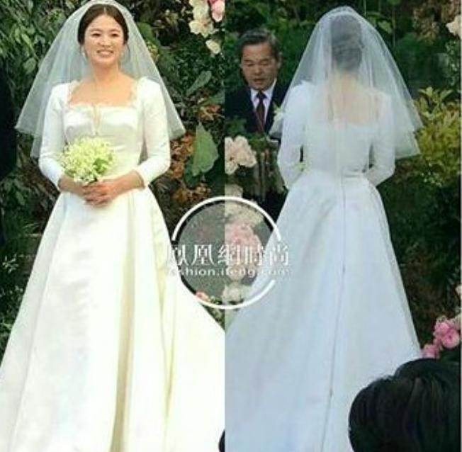 Cùng với Song Hye Kyo, nhiều người đẹp cũng diện thiết kế váy cưới của Dior trong ngày trọng đại-1