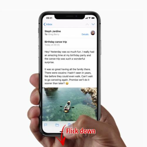 Cách sử dụng iPhone X bằng một tay-2