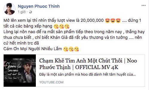 MV mới cán mốc 20 triệu view, Noo Phước Thịnh đã thả thính cho sản phẩm tiếp theo!-1