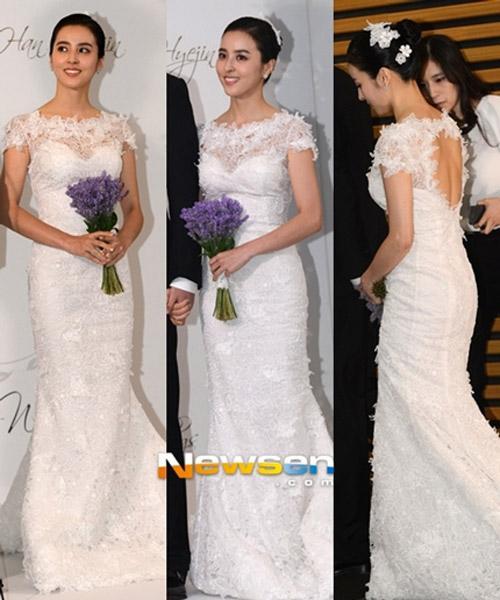 Cùng mặc váy cưới triệu đô, sao Hàn nào mới là nữ hoàng trong ngày trọng đại?-8