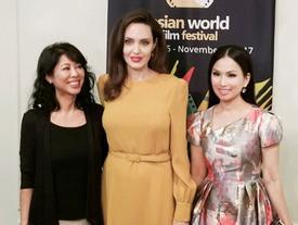 Em gái tỷ phú của Cẩm Ly gặp gỡ Angelina Jolie tại LHP Mỹ