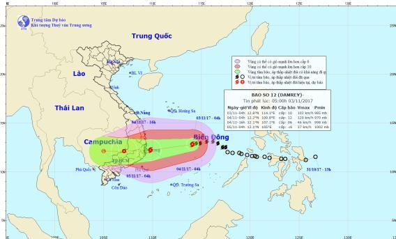 Tin bão số 12: Di chuyển nhanh và mạnh thêm, kịch bản bất ngờ có thể xảy ra-1