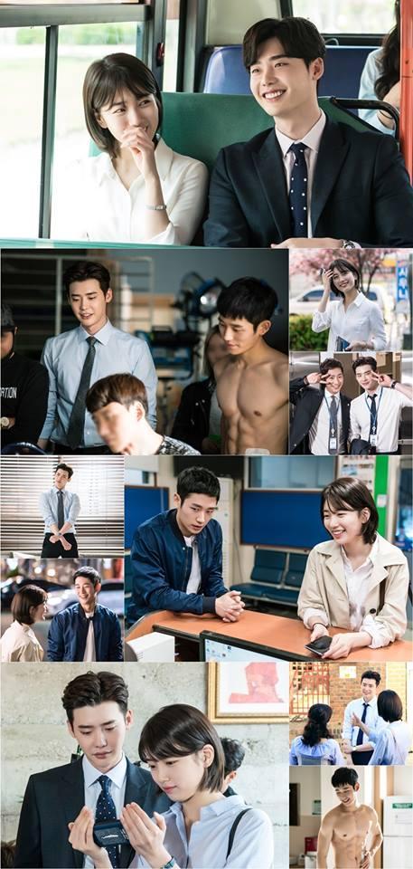 Khi nàng say giấc: Ảnh hậu trường cực đáng yêu của Lee Jong Suk và Suzy-9