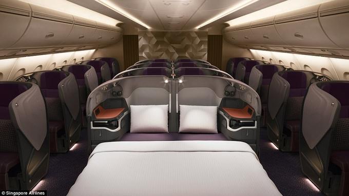 Khoang máy bay giường đôi như phòng khách sạn-2