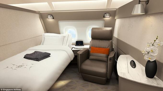 Khoang máy bay giường đôi như phòng khách sạn-3
