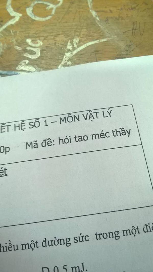 Thầy giáo chất nhất quả đất với loạt mã đề thi khiến học sinh tắt điện-3