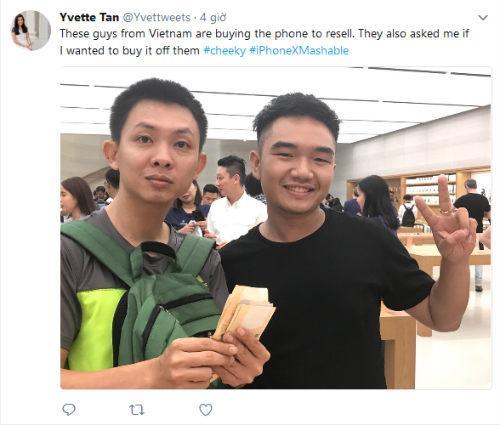 Tim Cook vui mừng chia sẻ ảnh người Việt mua iPhone X-2