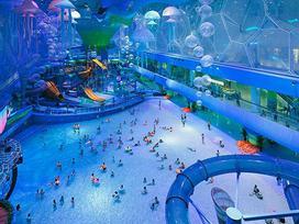 Nhà thi đấu cũ kỹ hóa 'đại dương' đẹp ảo diệu như hành tinh khác