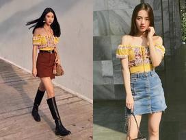Cùng 'phải lòng' áo trễ vai, Khánh Linh - Quỳnh Anh Shyn diện street style cực bắt mắt