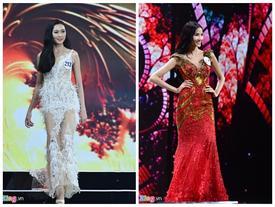 Diện đồ bó sát, thí sinh Hoa hậu Hoàn vũ liên tục vấp váy, vồ ếch