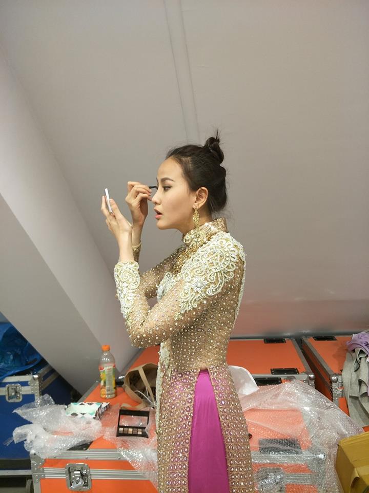 Ngắm nhan sắc và gu thời trang đời thường của Khánh Ngân - tân Hoa hậu Hoàn cầu 2017-3