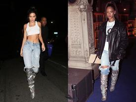 Đi boots 230 triệu mừng sinh nhật, ai ngờ Kendall Jenner lại 'đụng hàng' Rihanna