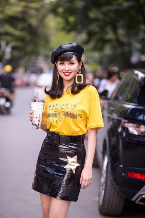Đụng hàng áo thun Gucci 12 triệu đồng, Tâm Tít khí chất không kém Hà Hồ, Kỳ Duyên-1