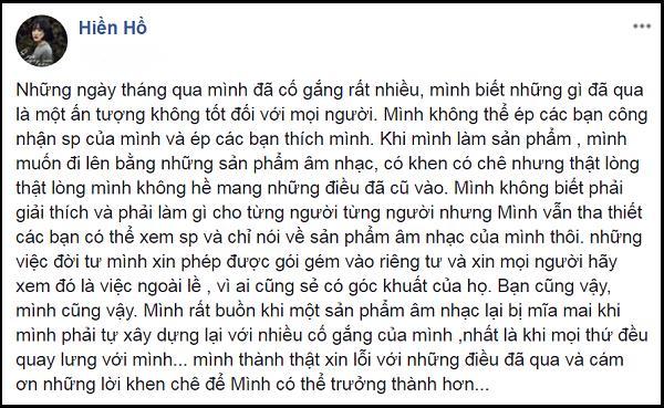Sau ồn ào tình ái với Soobin Hoàng Sơn, Hiền Hồ tủi thân khi ca khúc mới bị dân mạng mỉa mai-2