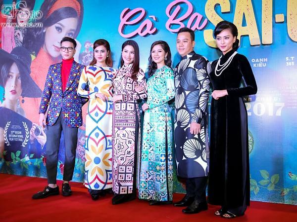 Dàn sao hạng A đồng loạt phủ bóng áo dài trong tiệc ra mắt Cô Ba Sài Gòn-4