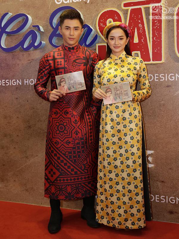 Dàn mỹ nhân Việt rực rỡ với áo dài họa tiết tham dự ra mắt phim Cô Ba Sài Gòn-10