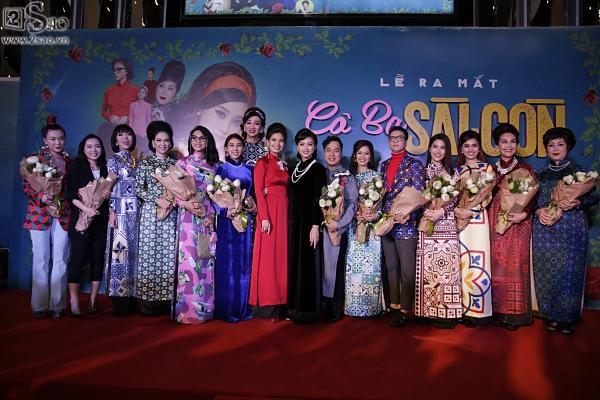 Dàn sao hạng A đồng loạt phủ bóng áo dài trong tiệc ra mắt Cô Ba Sài Gòn-12