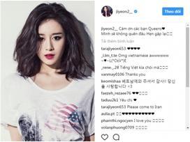 Jiyeon (T-ara) cám ơn fan bằng tiếng Việt: 'Mình sẽ không quên đâu'