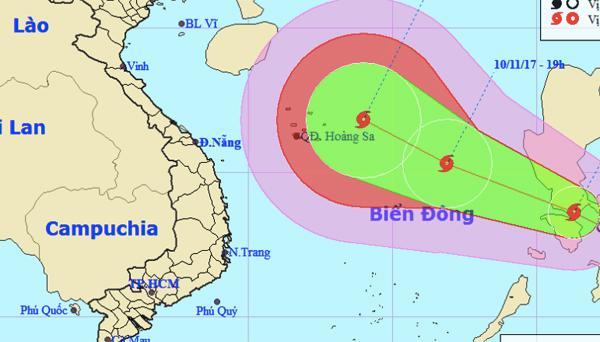 Dự báo thời tiết 10/11: Biển Đông hứng bão số 13-1