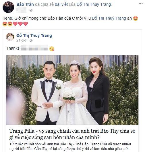 Hot girl - hot boy Việt 10/11: Anh trai Bảo Thy hé lộ tên đáng yêu của em bé sắp chào đời-1