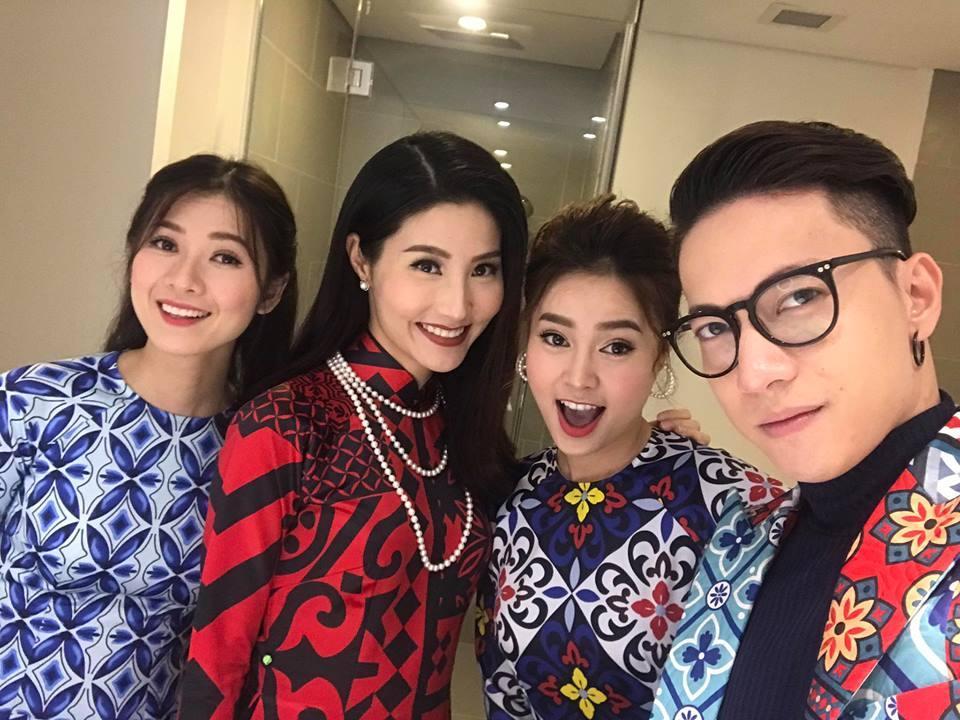 Dàn mỹ nhân Việt rực rỡ với áo dài họa tiết tham dự ra mắt phim Cô Ba Sài Gòn-1