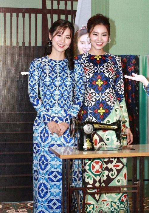 Dàn mỹ nhân Việt rực rỡ với áo dài họa tiết tham dự ra mắt phim Cô Ba Sài Gòn-6
