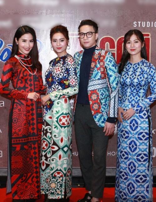 Dàn mỹ nhân Việt rực rỡ với áo dài họa tiết tham dự ra mắt phim Cô Ba Sài Gòn-7