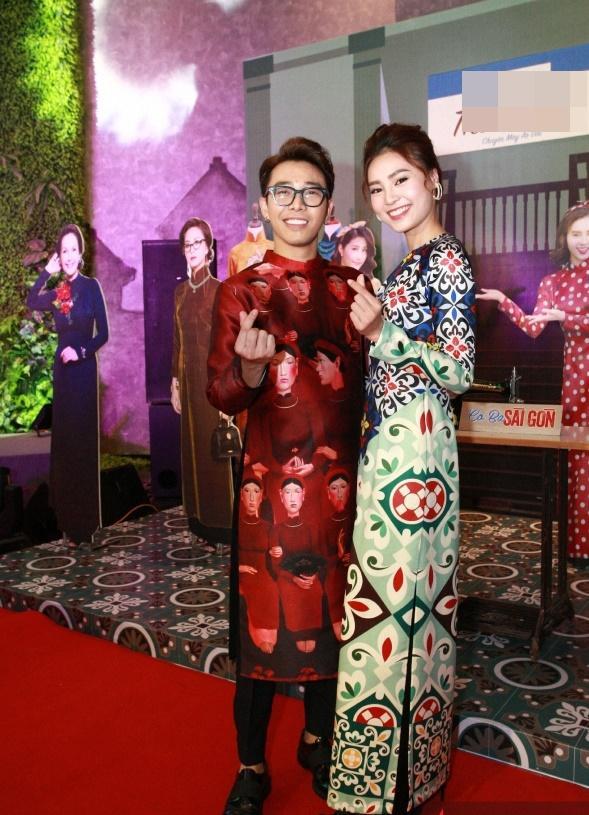 Dàn mỹ nhân Việt rực rỡ với áo dài họa tiết tham dự ra mắt phim Cô Ba Sài Gòn-5