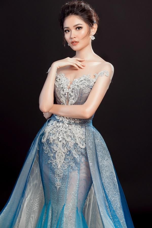 Cận cảnh trang phục dạ hội chính thức của Thùy Dung tại Hoa hậu Quốc Tế 2017-1
