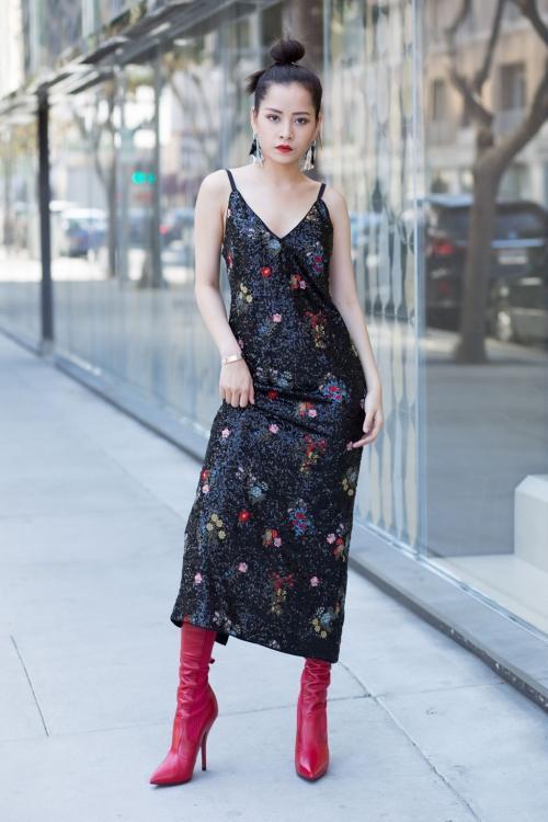Liên tục mặc đụng hàng , thời trang của Đồng Ánh Quỳnh đang bị Chi Pu đồng hóa?-3