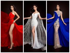 Đỗ Mỹ Linh chọn đầm xẻ tà cao khoe chân dài tại Miss World