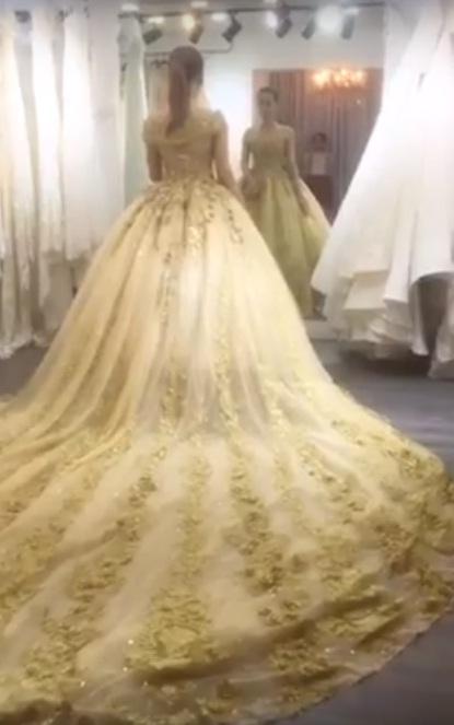 Lộ clip Lâm Khánh Chi mặc váy cưới lộng lẫy trước giờ xuất giá-1