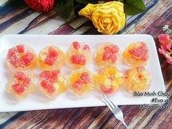 Rau câu trái cây tuyệt ngon cho các bé dịp cuối tuần