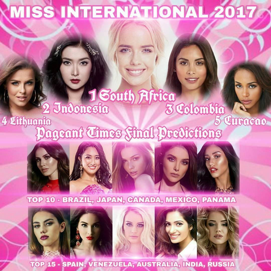Sát giờ chung kết Miss International 2017, Thùy Dung rơi khỏi bảng vàng dự đoán top 15-3
