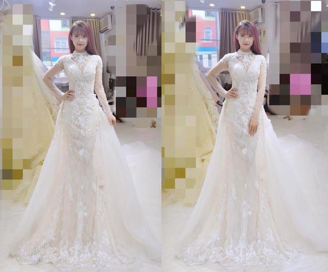Hé lộ hình ảnh cô dâu Khởi My đi thử váy cưới đính 8.000 viên pha lê-1